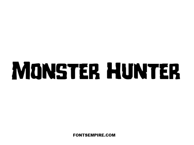 Monster Hunter Font Family Free Download
