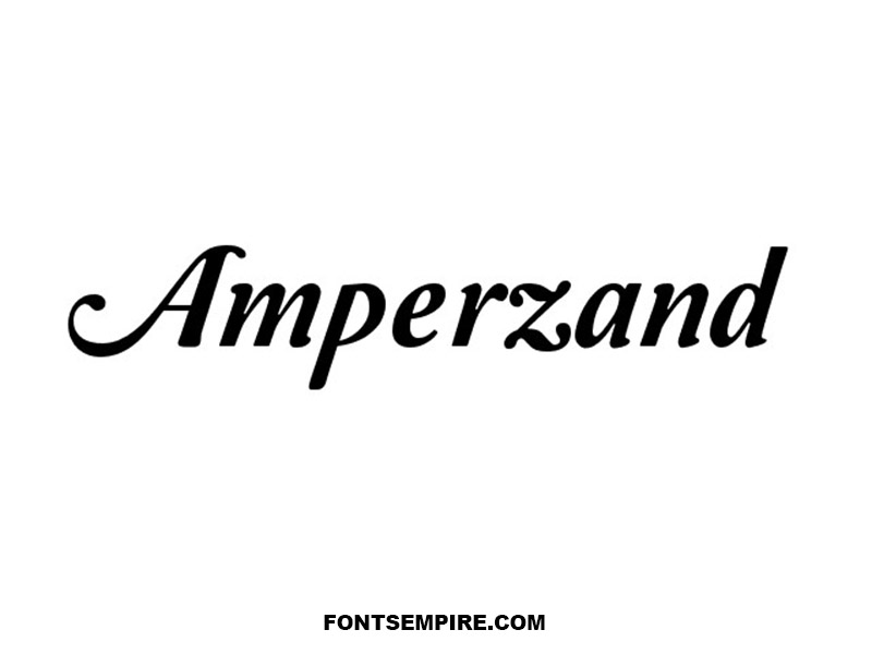 Amperzand Font Family Free Download