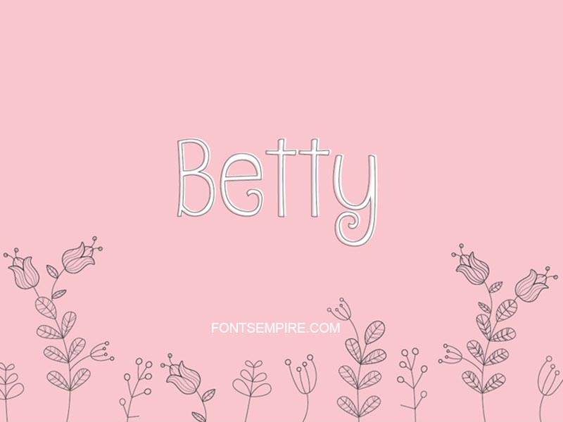 Betty Font Family Free Download