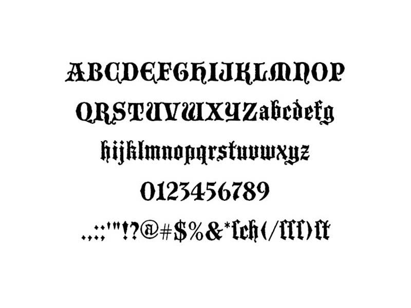 Blackwood Castle Font Family Download