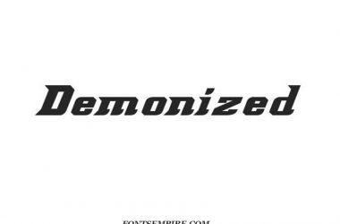 Demonized Font Family Free Download