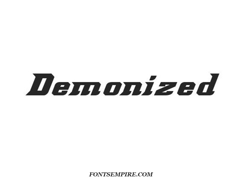 Demonized Font Family Free Download