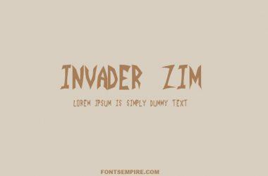Invader Zim Font Family Free Download