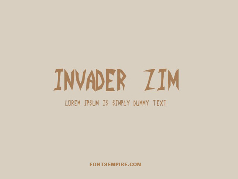 Invader Zim Font Family Free Download