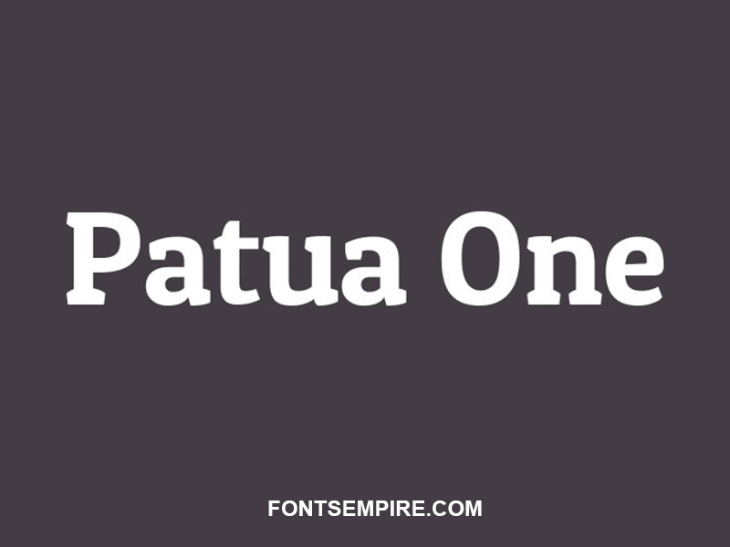 Patua One Font Family Free Download