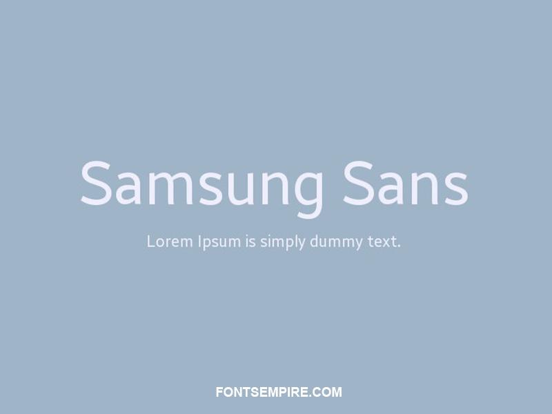 Samsung Sans Font Family Free Download