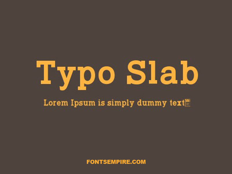 Typo Slab Font Family Free Download