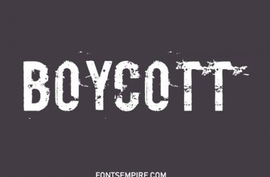 Boycott Font Family Free Download