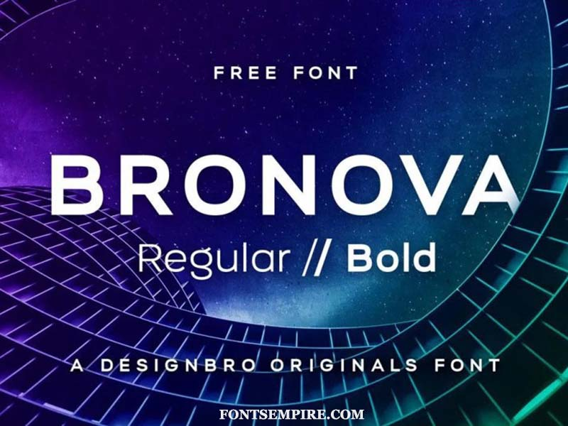 Bronova Font Family Free Download