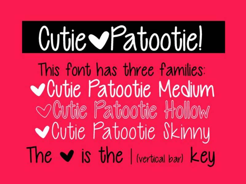Cutie Patootie Font Family Download