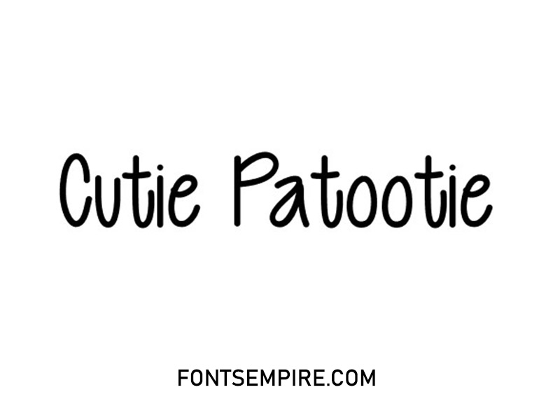 Cutie Patootie Font Family Free Download