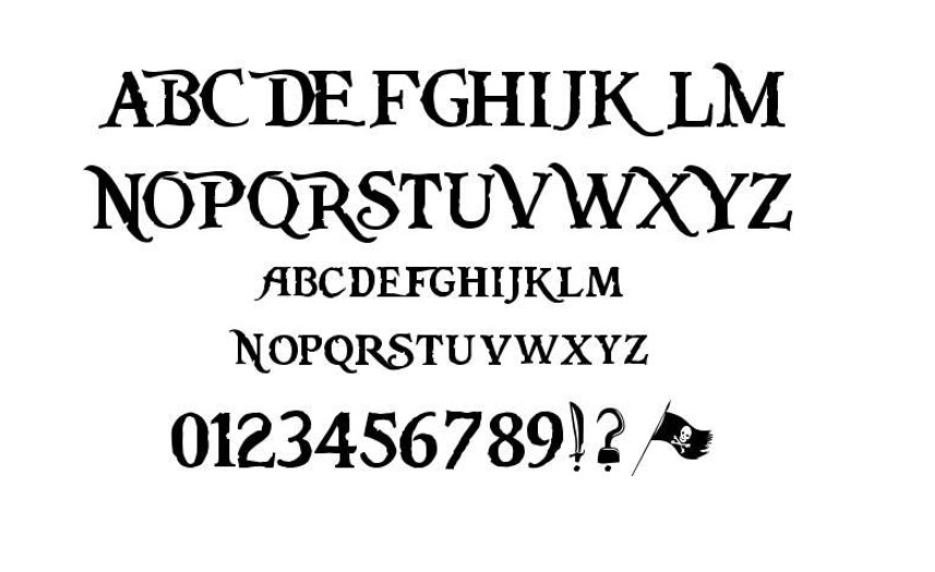 Pieces of Eight Font Free Download