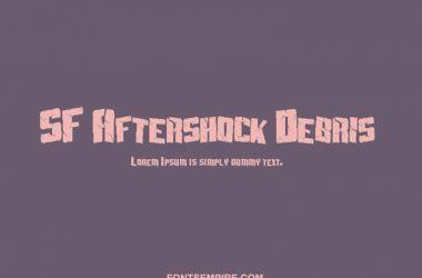 Sf Aftershock Debris Font Family Free Download
