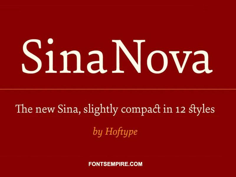Sina Nova Font Family Free Download