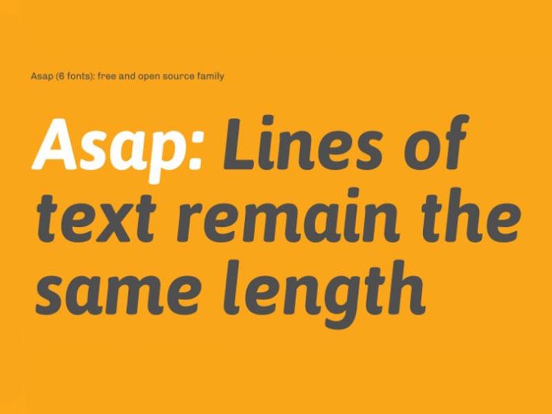 Asap Font Family Download