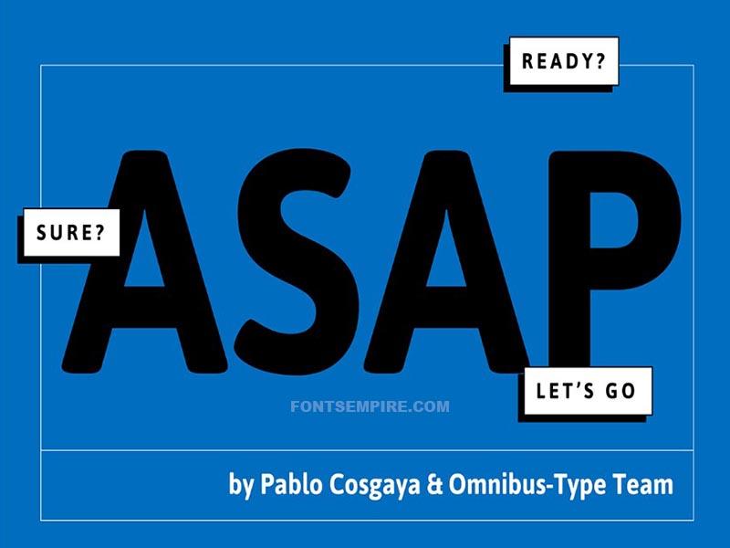 Asap Font Family Free Download
