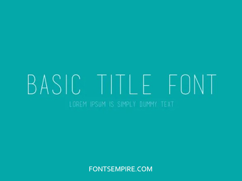 Basic Title Font Family Free Download