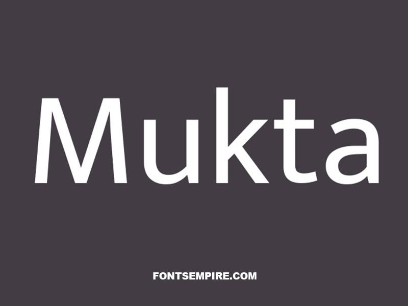 Mukta Font Family Free Download