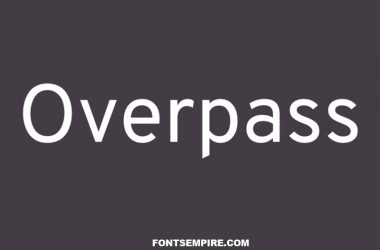 Overpass Font Family Free Download