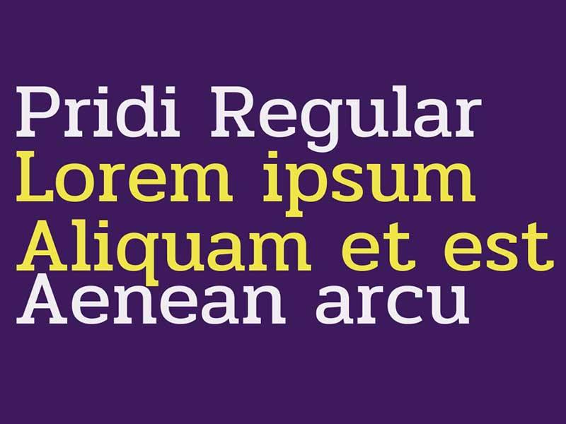 Pridi Font Family Download