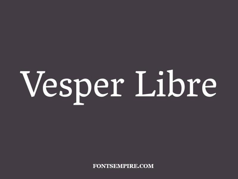 Vesper Libre Font Family Free Download