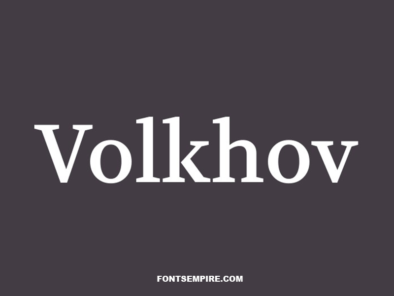 Volkhov Font Family Free Download