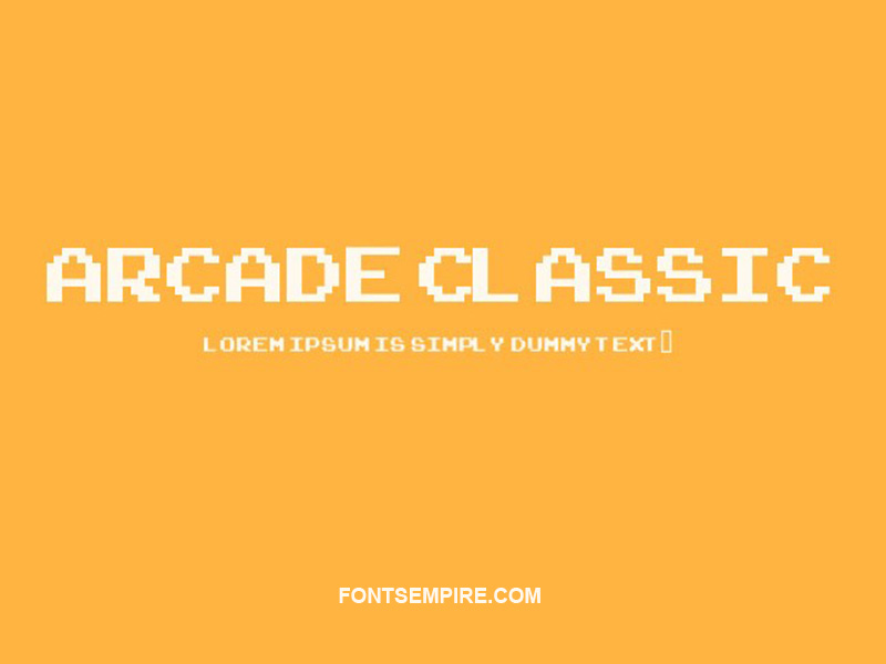 Arcade-Classic Font Family Free Download