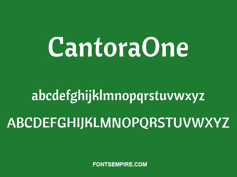 Cantora One Font Family Free Download