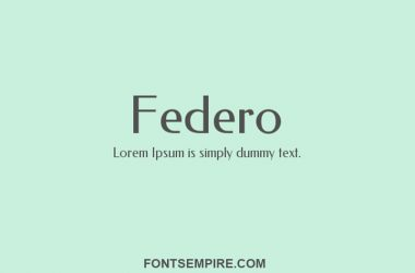 Federo Font Family Free Download