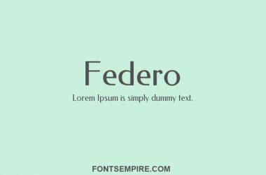 Federo Font Family Free Download