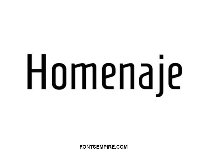 Homenaje Font Family Free Download