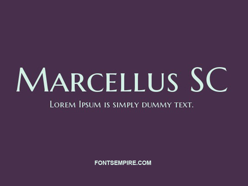 Marcellus SC Font Family Free Download