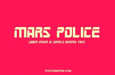 Mars Police Font Family Free Download