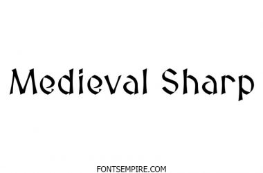 Medieval Sharp Font Family Free Download