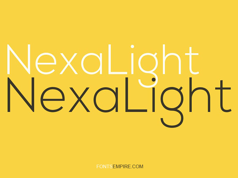 NexaLight Font Family Free Download