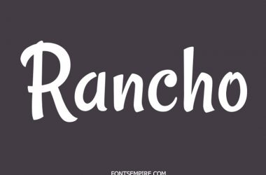 Rancho Font Family Free Download