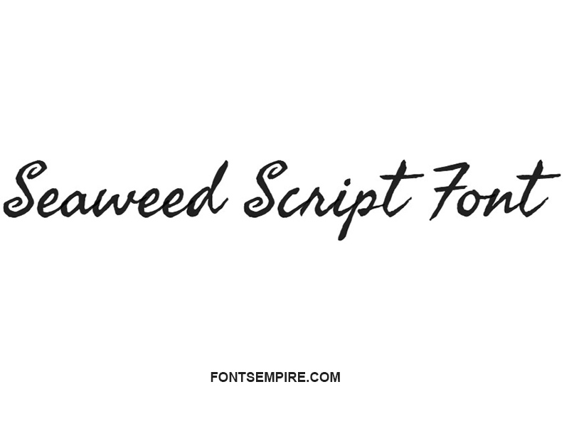 Seaweed Script Font Family Free Download