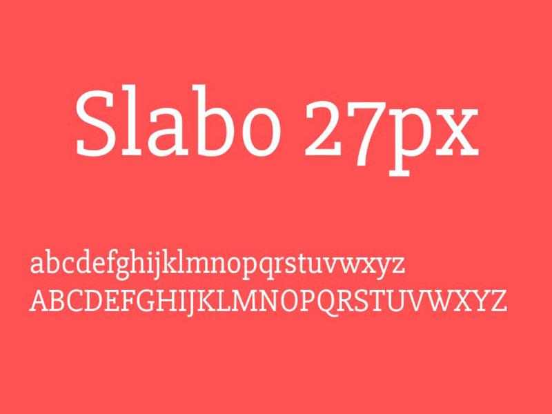 Slabo Font Family Download