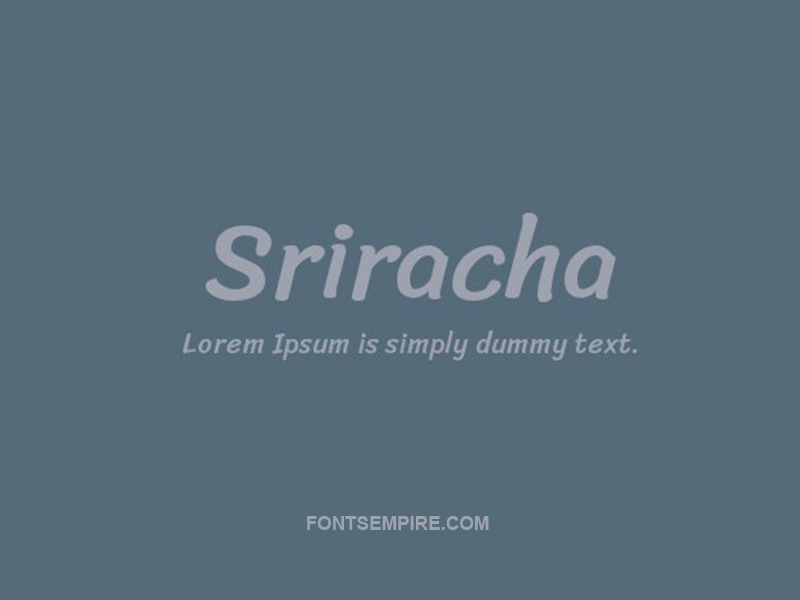 Sriracha Font Family Free Download
