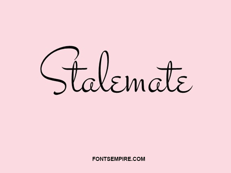 Stalemate Font Family Free Download