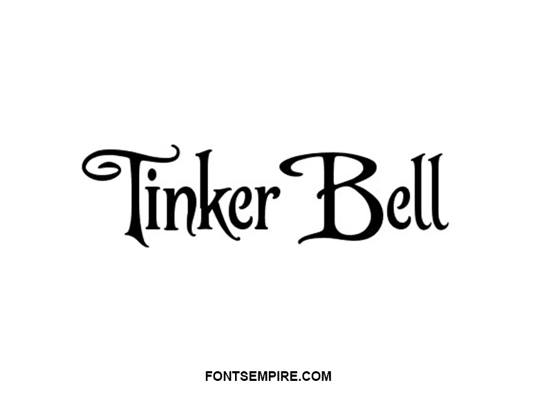 Tinker Bell Font Family Free Download
