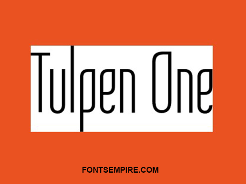 Tulpen One Font Family Free Download
