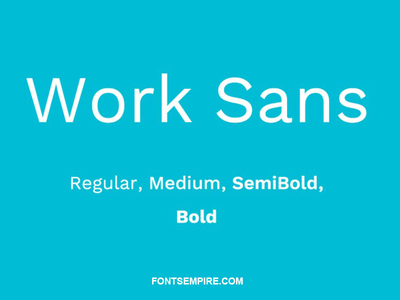 Work Sans Font Family Free Download