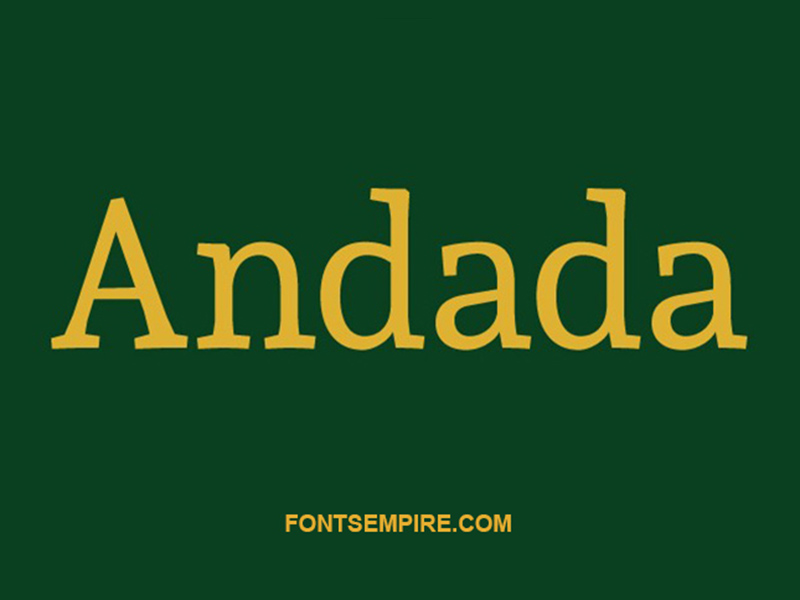 Andada Font Family Free Download