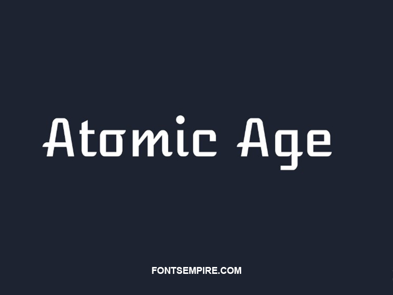 Atomic Age Font Family Free Download