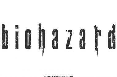 Biohazard Font Family Free Download