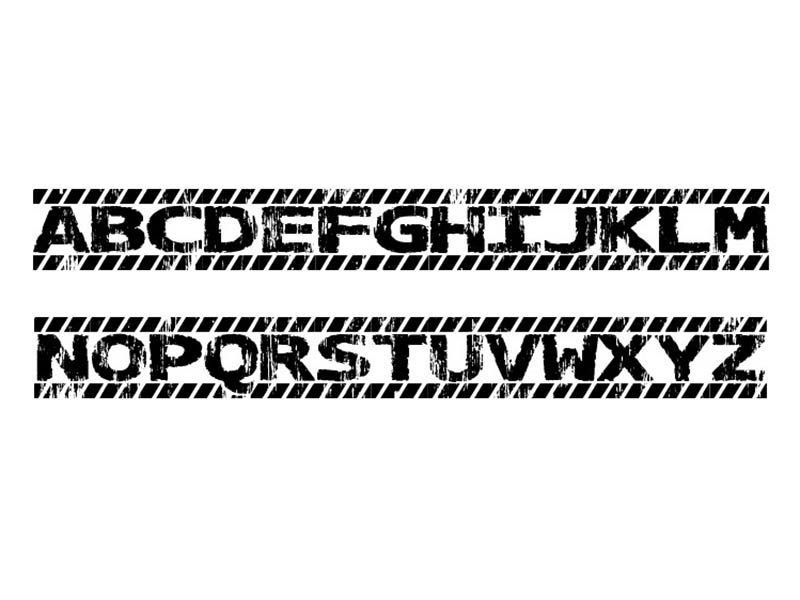 Caution Font Family Download