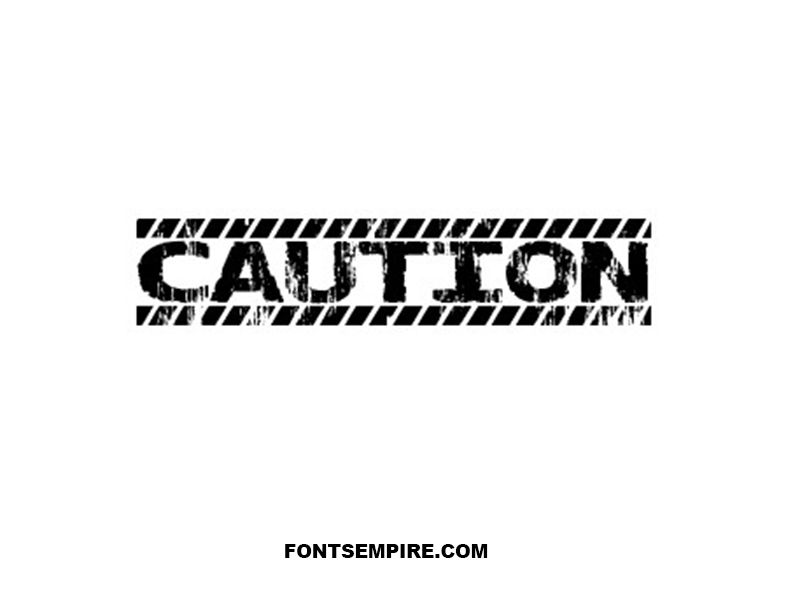 Caution Font Family Free Download