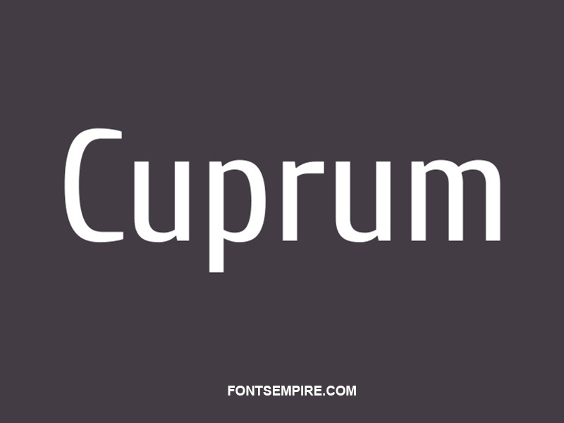 Cuprum Font Family Free Download