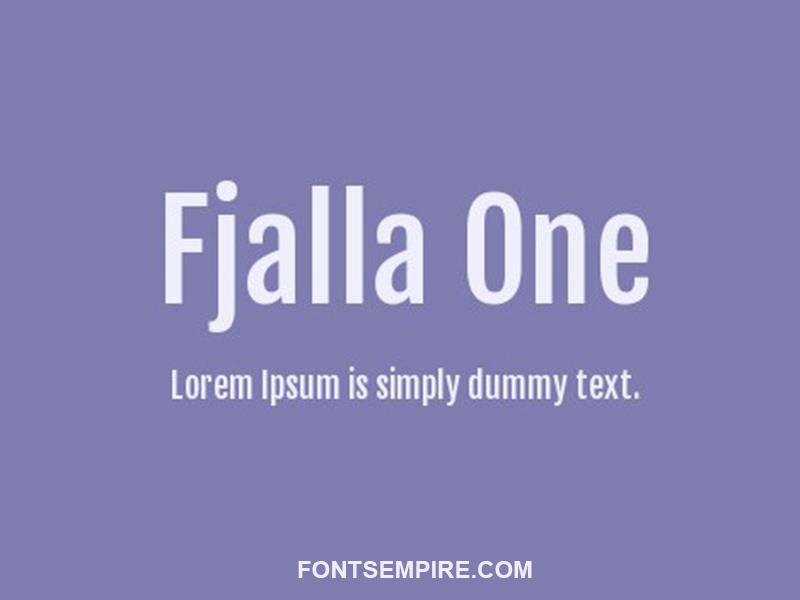 Fjalla One Font Family Free Download